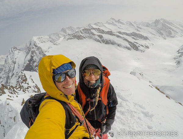 Ted and Christy Mahon on the summit of the Jungfrau
