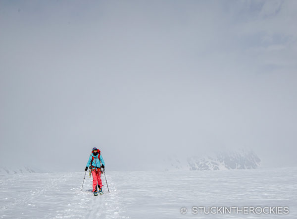 Skinning the Altesch Glacier