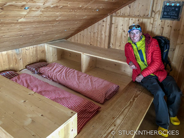 Bunks in Hollandia Hut