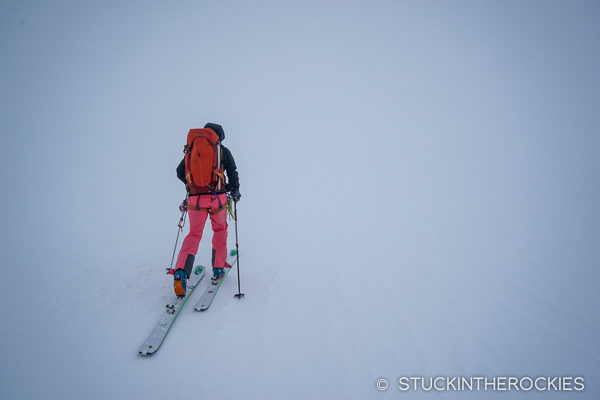 Whiteout conditions on the Berner Oberland Traverse