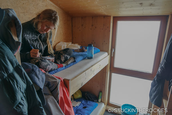 Bunk room at Finsteraarhorn Hut
