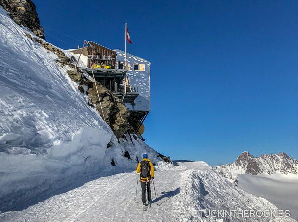 Approaching the Monch Hut