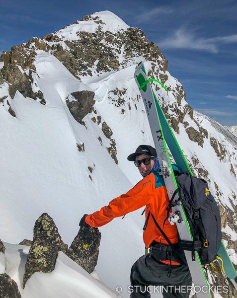 Ted Mahon climbing Wheeler Peak
