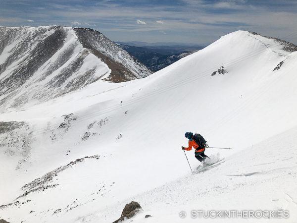 Ted Mahon skiing Argentine Peak
