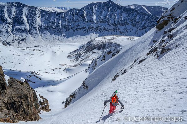 Climbing the Northeast Couloir on Mount Arkansas