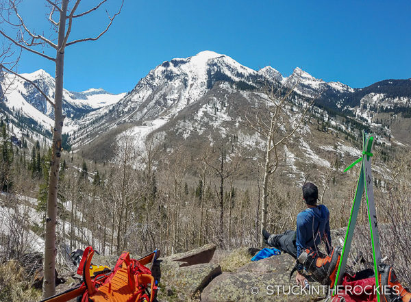 Hiking in to Snowmass Lake