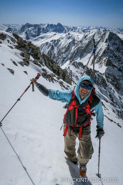 Aron Ralston on Snowmass Mountain