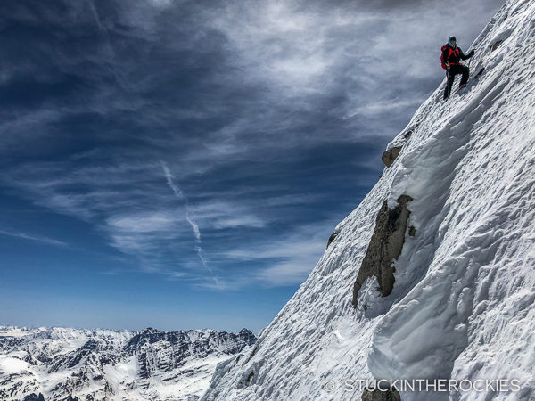 The steep East Face of Snowmass Mountain