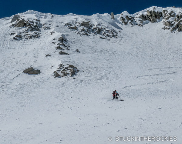 Aron Ralston skiing Snowmass Mountain