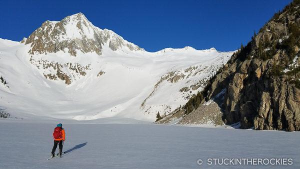 Skinning across Snowmass Lake