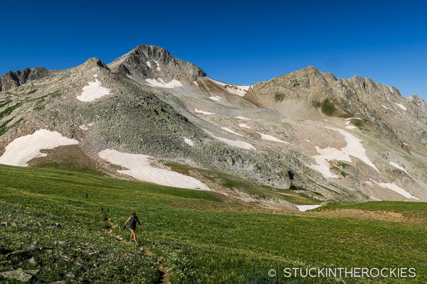 Trail running around Marble, Colorado near Avalanche Pass