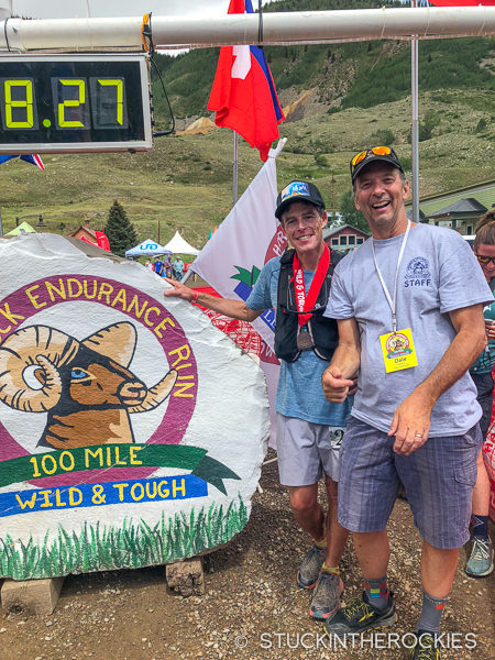 Ted Mahon and Dale Garland at the Hardrock 100