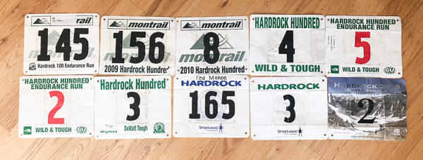 Ted Mahon bibs for Hardrock 100