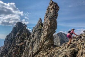 Christy Mahon on the Tenmile Traverse