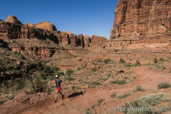 Christy Mahon runs up the Pritchett Canyon road