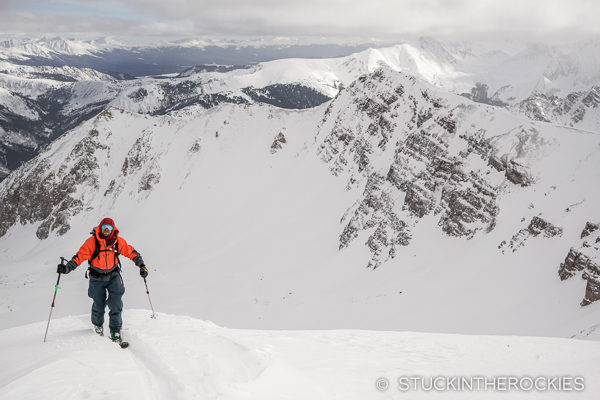 Adam Moszynski on South Hayden Peak