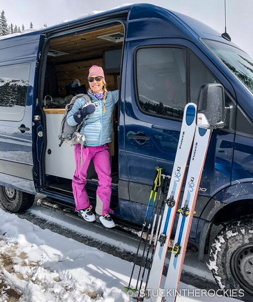 Spring skiing on Red Mountain Pass with Aspen Custom Vans