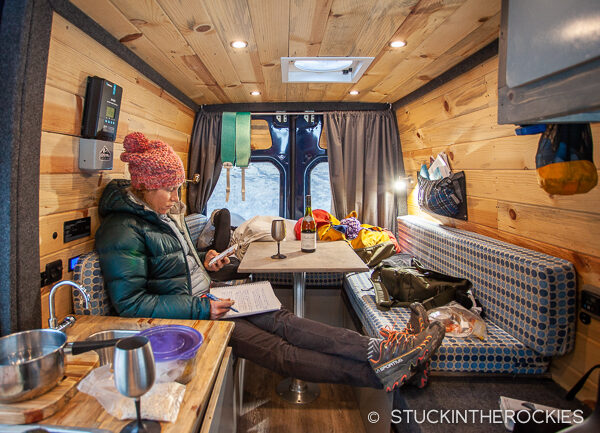 Relaxing in an Aspen Custom Van