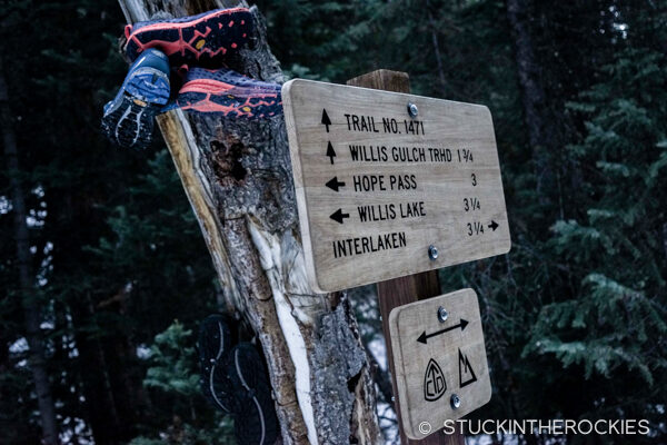 Hiking up to ski Mount Blaurock