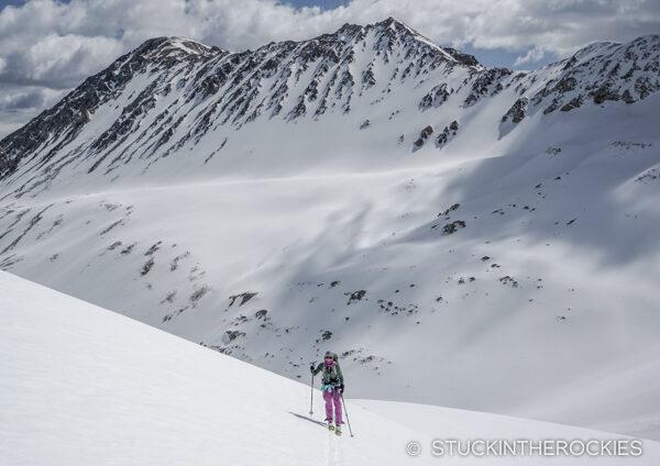 Nearing the summit ridge on Mount Blaurock
