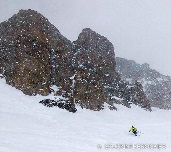 Ted Mahon skiing U.S. Grant Peak