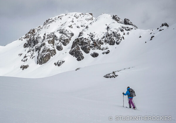 Christy Mahon on approach to U.S. Grant Peak.