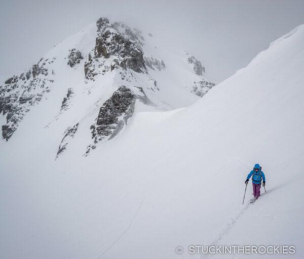 Skinning up U.S. Grant Peak