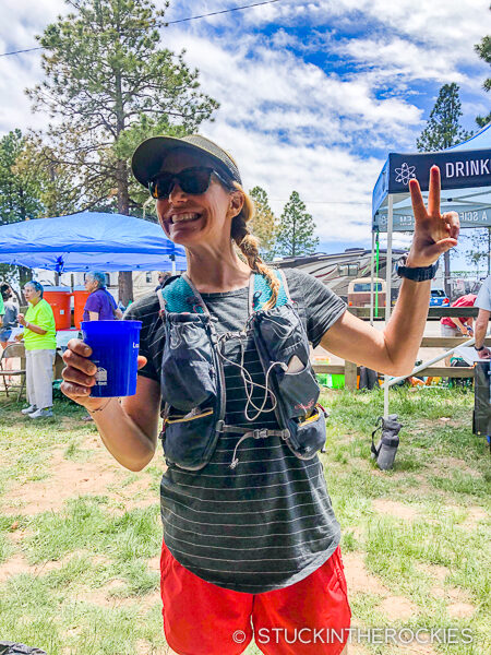 Christy Mahon at the Jemez Mountain 50k