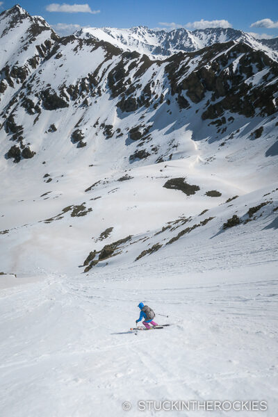 Skiing the north face of UN13736