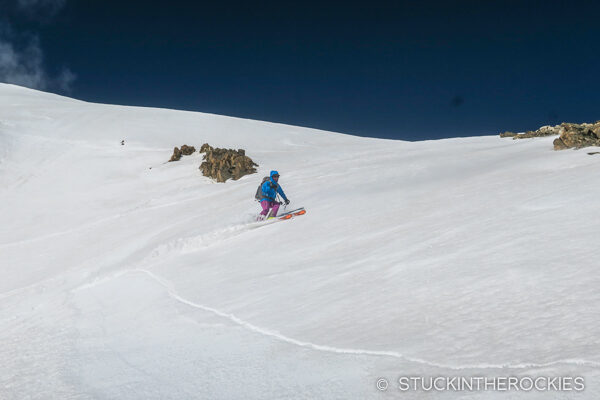 Christy Mahon skiing Mount Champion