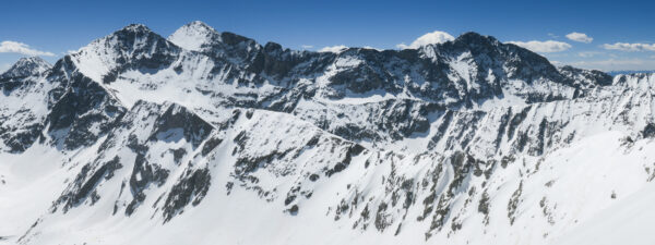 A panorama of the southern Sangre 14ers.