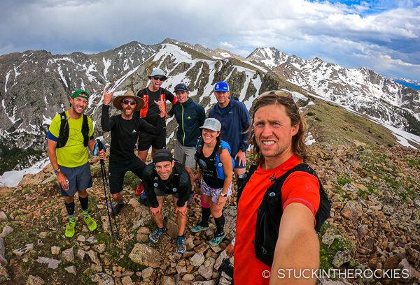 Group selfie on the ridge to New York Mountain
