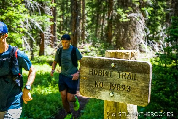Running the Hobbit Trail on day one of Hut Run Hut