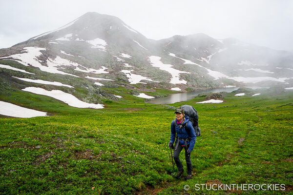 Christy Mahon backpacking in the Weminuche Wilderness