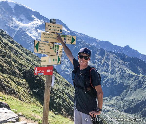 Ted Mahon on the Tour du Mont Blanc
