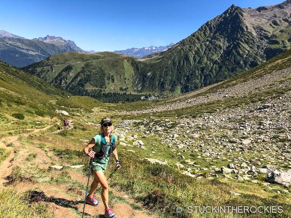 Christy Mahon ascending the Col de Tricot