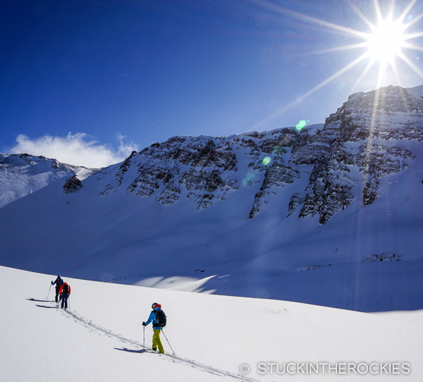 Ski touring up in Ashcroft.