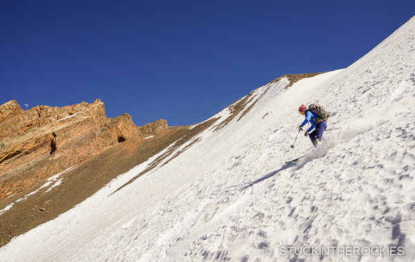 Ski Morocco? Yes. Here's Christy skiing spring snow on Jbel Ayyachi