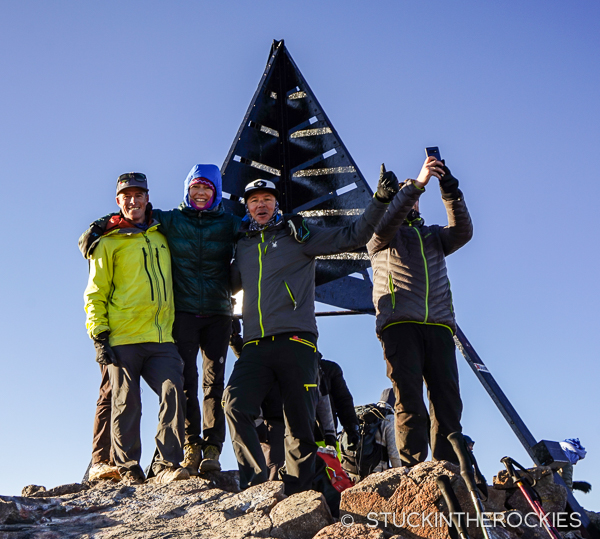 Summit photo on Toubkal