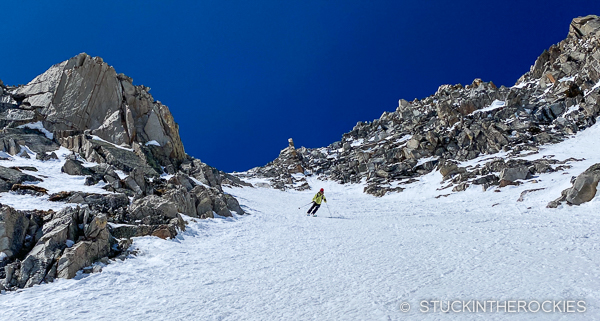 Ted Mahon skiing Clark Peak.