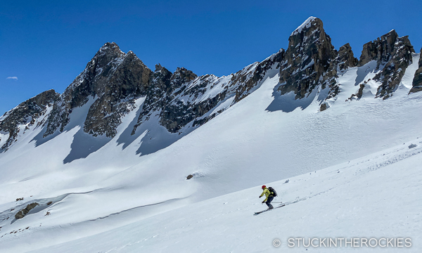 Ted Mahon skiing through Copper Basin.