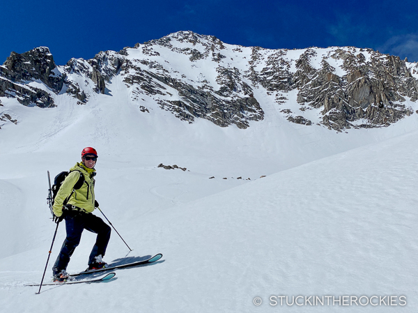 Looking back at the steep East Face of Clark Peak.