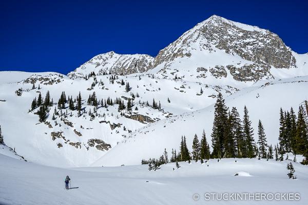 Christy Mahon approaches Clark Peak.