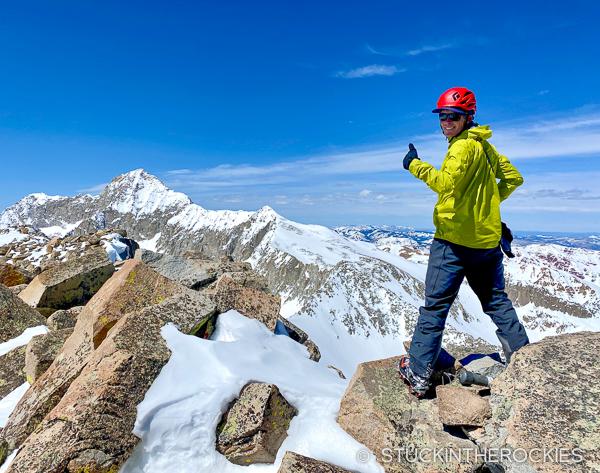 Ted Mahon on the summit of Clark Peak.