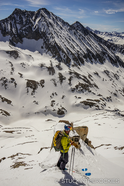 Chris Davenport skiing Siberia Peak