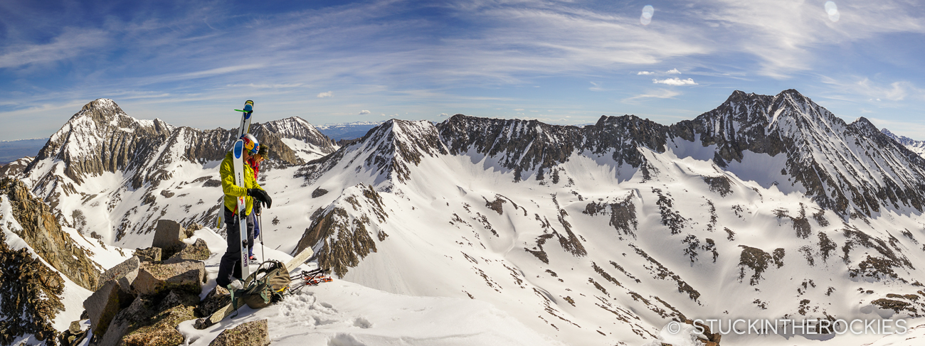 Panorama from the summit of Siberia Peak