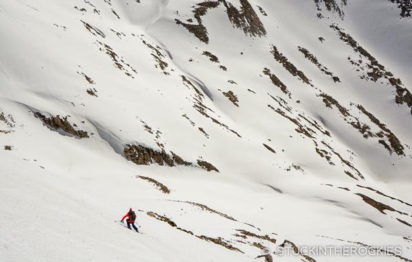 Christy Mahon skis Siberia Peak