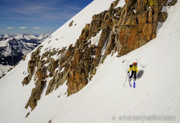 Chris Lane skis Siberia Peak
