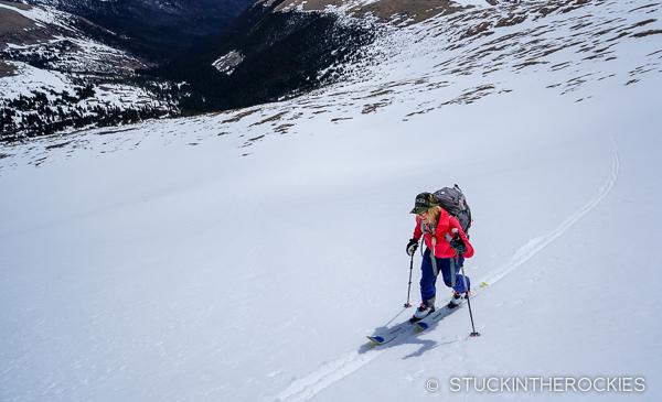 Christy Mahon skinning Bard Peak
