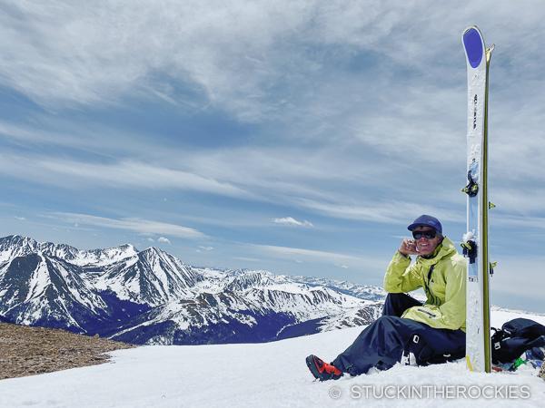 Ted Mahon on the summit of Bard Peak